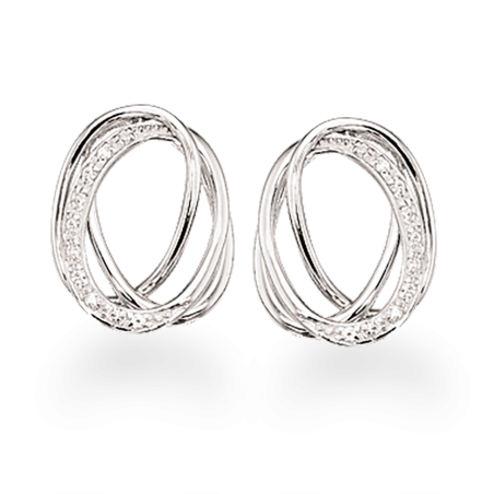 Sølv øreringe med zirconia