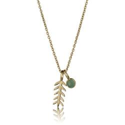 Arktisk pil halskæde - vedhæng med pil og smaragd