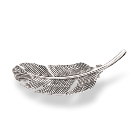 Sølv Broche - Fjer