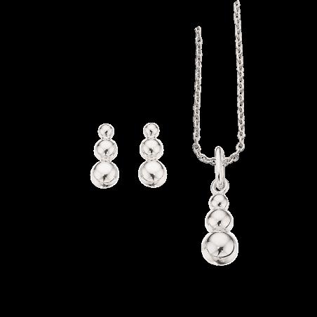 Smykkesæt i sølv