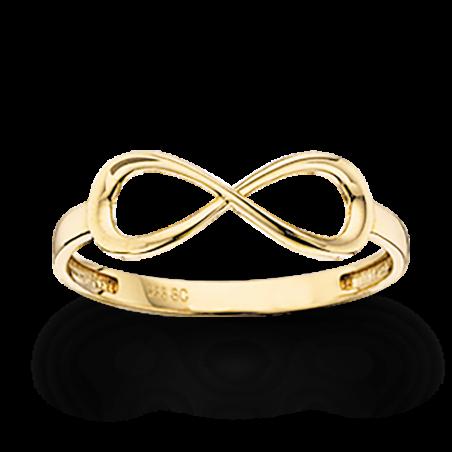Guld ring 8 kt. - uendelighedstegn