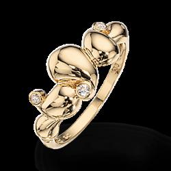Guld ring 8 kt. med zirconia
