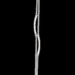 Dobbeltrækket sølv armbånd