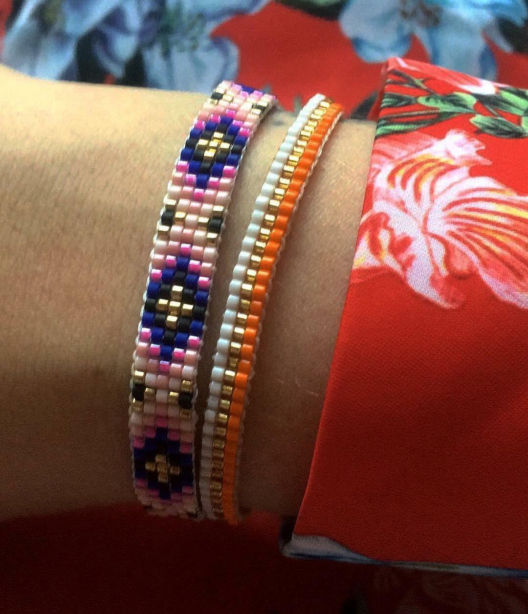 farvet glasperle armbånd Mai Cph